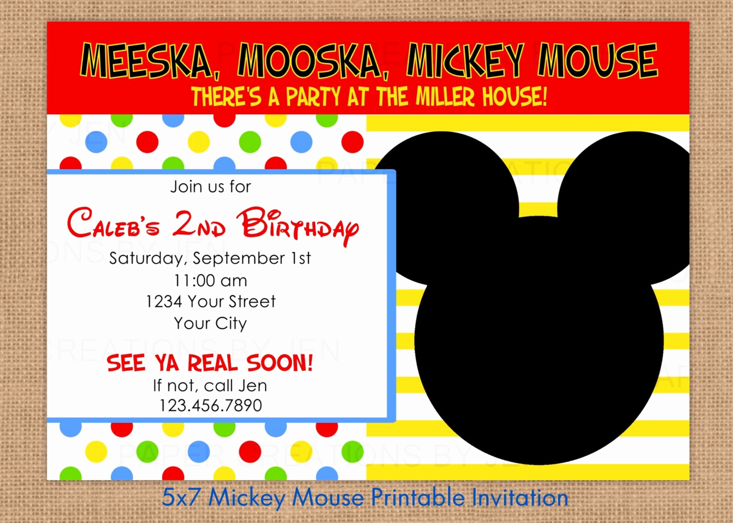 Mickey Mouse Printable Invitation Fresh Mickey Mouse Printable Invitations