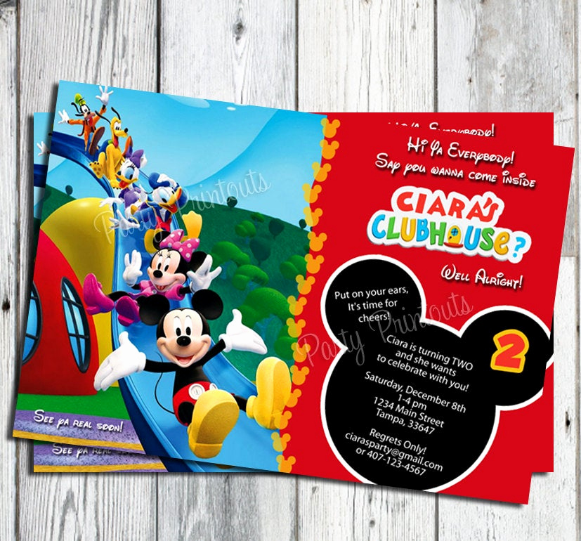 Mickey Mouse Printable Invitation Inspirational Mickey Mouse Birthday Invitation Printable Boy by