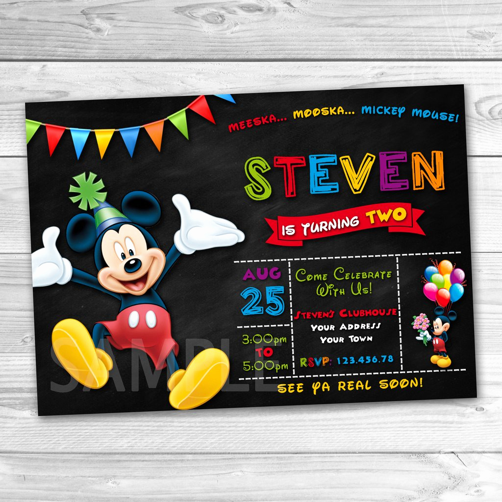 Mickey Mouse Printable Invitation Luxury Mickey Mouse Party Invitation Mickey Mouse Invitation