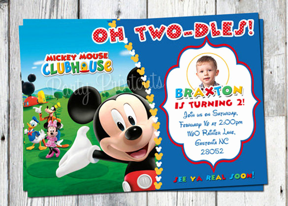 Mickey Mouse Printable Invitation New 15 Mickey Mouse Birthday Invitation Templates – Psd