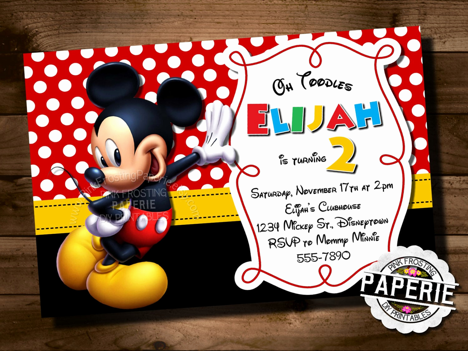 Mickey Mouse Printable Invitation New Mickey Mouse Birthday Invitation Mickey Mouse Clubhouse