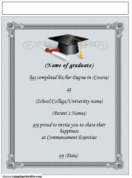 Microsoft Graduation Invitation Templates Awesome 22 Best Grad Announcements Images On Pinterest