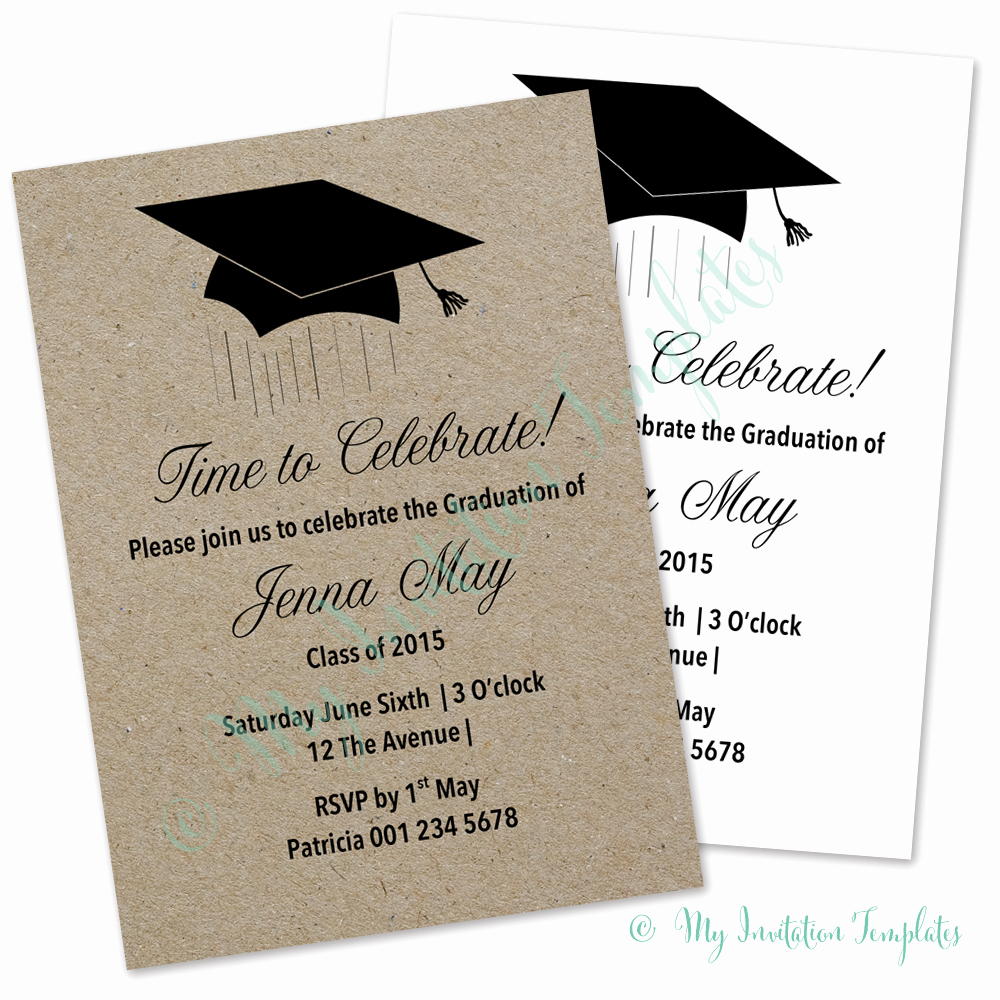 Microsoft Graduation Invitation Templates Lovely Graduation Card Invitation