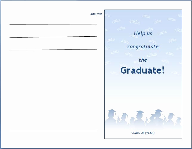 Microsoft Graduation Invitation Templates New Ms Word Graduation Party Invitation Template