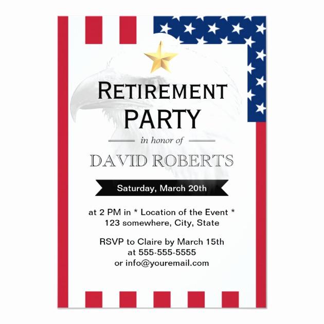 Military Retirement Invitation Templates Beautiful Personalized Military Retirement Invitations