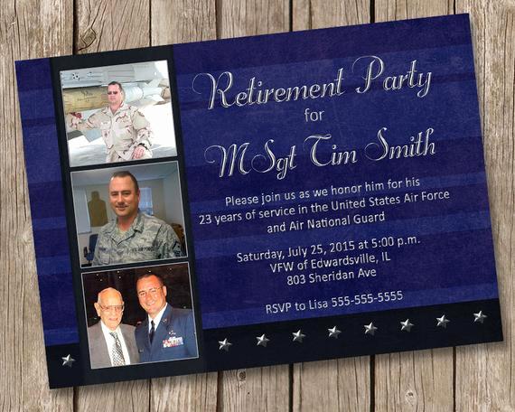 Military Retirement Invitation Templates Elegant Military Retirement Party Invitation