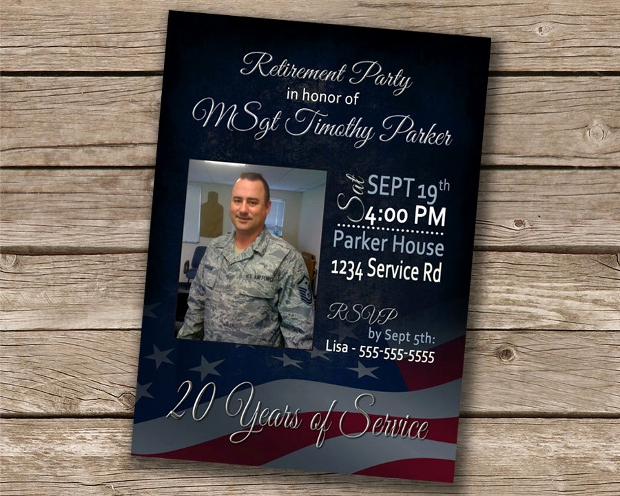 Military Retirement Invitation Templates Inspirational 22 Retirement Party Invitation Templates Psd Ai Eps