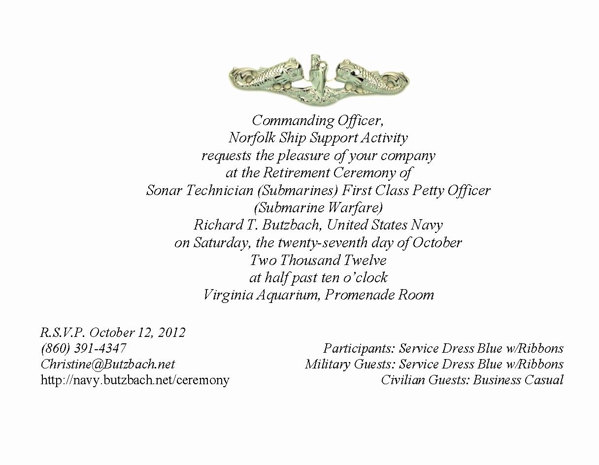 Military Retirement Invitation Templates Inspirational Military Retirement Ceremony Invitations