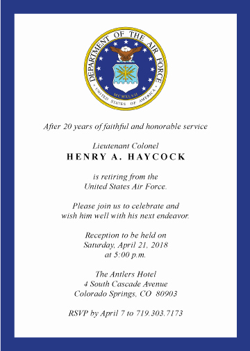 Military Retirement Invitation Templates Lovely Military Retirement Invitation Created by V