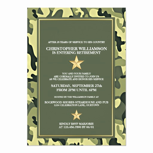 Military Retirement Invitation Templates New Military Retirement Party Invitation