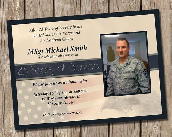 Military Retirement Invitation Templates Unique Military Retirement Party Invitation