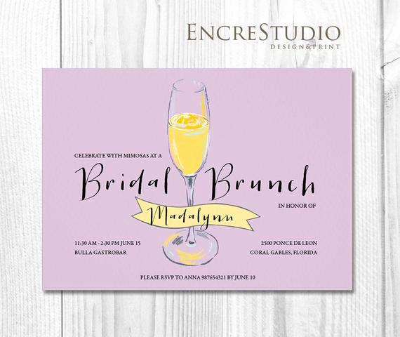 Mimosa Bridal Shower Invitation Best Of Bridal Shower Invitation Mimosa Bridal Shower by Encrestudio