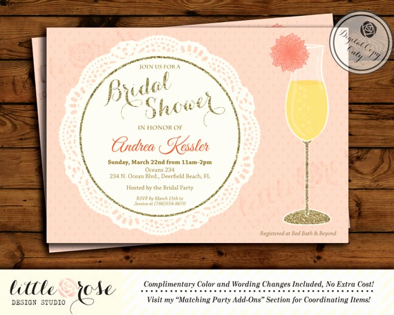 Mimosa Bridal Shower Invitation Best Of Dahlia Flower Mimosa Bridal Shower Invitation Bridal