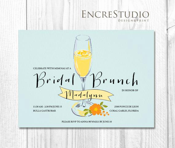 Mimosa Bridal Shower Invitation Elegant Items Similar to Bridal Shower Invitation Mimosa Bridal