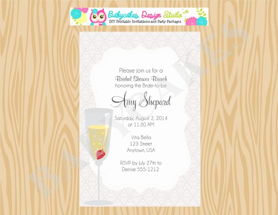 Mimosa Bridal Shower Invitation Fresh Bridal Shower Brunch Invite Mimosa Bridal Shower Invitation