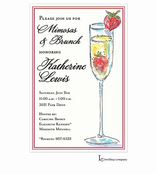 Mimosa Bridal Shower Invitation Fresh Tall Mimosa Invitation Printswell