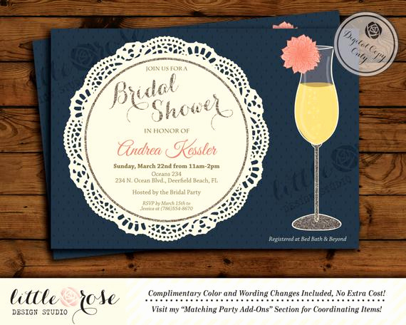 Mimosa Bridal Shower Invitation Inspirational Dahlia Flower Mimosa Bridal Shower Invitation by