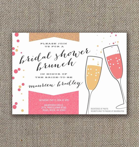 Mimosa Bridal Shower Invitation Unique Bridal Shower Brunch Invitation Digital File