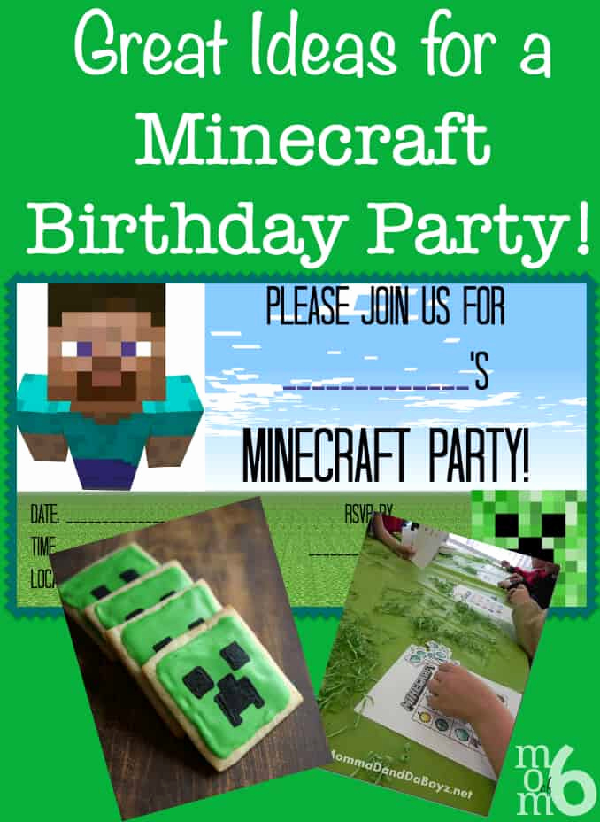 Minecraft Birthday Party Invitation Beautiful Great Ideas for A Minecraft Birthday Party Mom 6