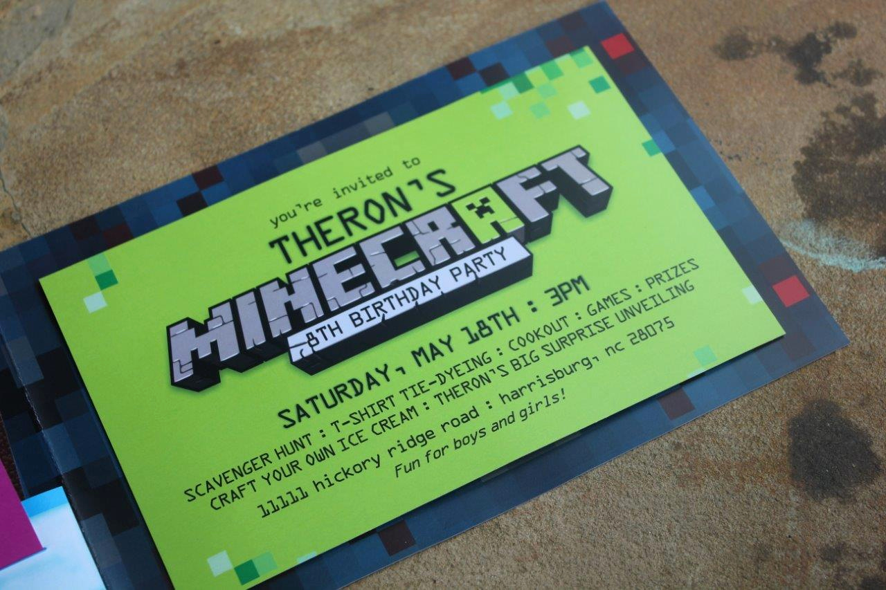 Minecraft Birthday Party Invitation Unique Minecraft Birthday Party Ideas and Invitations Minecraft
