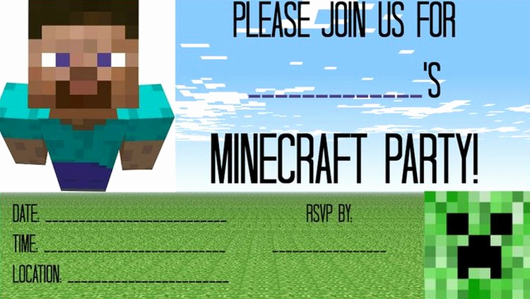 Minecraft Party Invitation Template Best Of My Little Pony Free Printable Invitation Templates