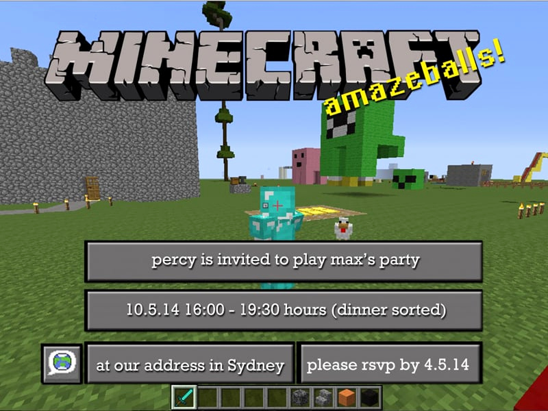 Minecraft Party Invitation Template Elegant Free Minecraft Party Invitations to Edit and