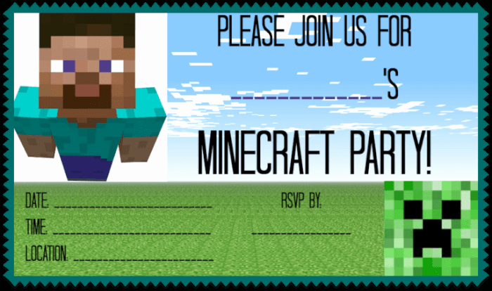Minecraft Party Invitation Template Elegant Great Ideas for A Minecraft Birthday Party Mom 6