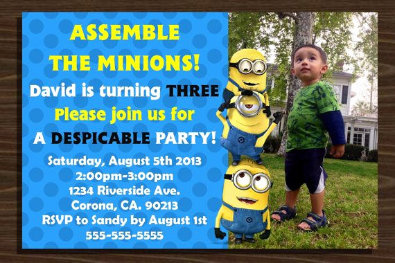 Minion Birthday Invitation Wording Elegant 25 Best Ideas About Minion Birthday Invitations On