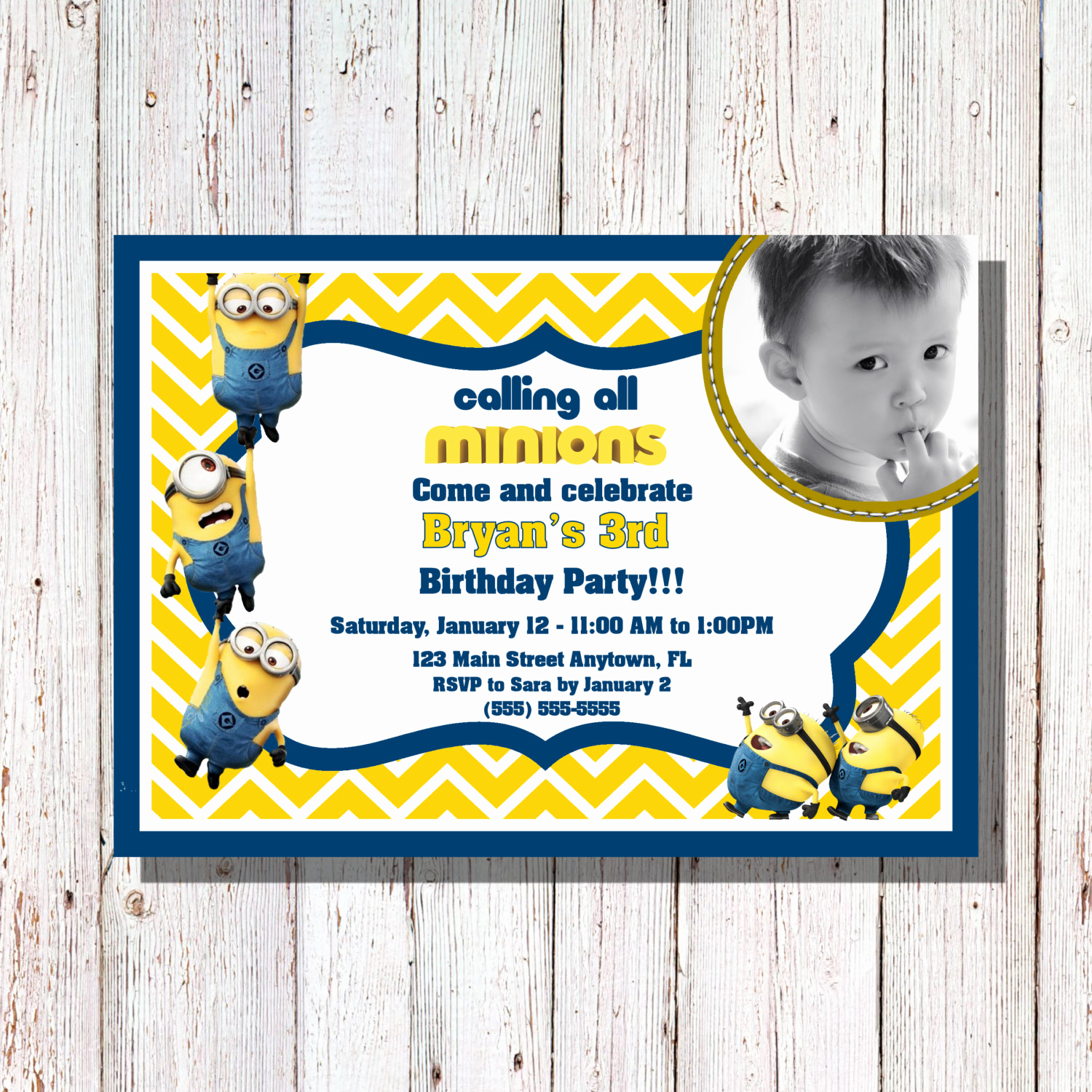 Minion Birthday Invitation Wording Elegant Minions Birthday Invitation Minions Party by Sharpecorner