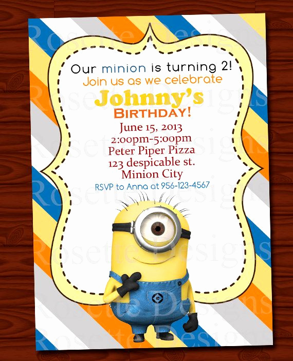 Minion Birthday Invitation Wording Inspirational 29 Best Images About Minion Birthday Party On Pinterest