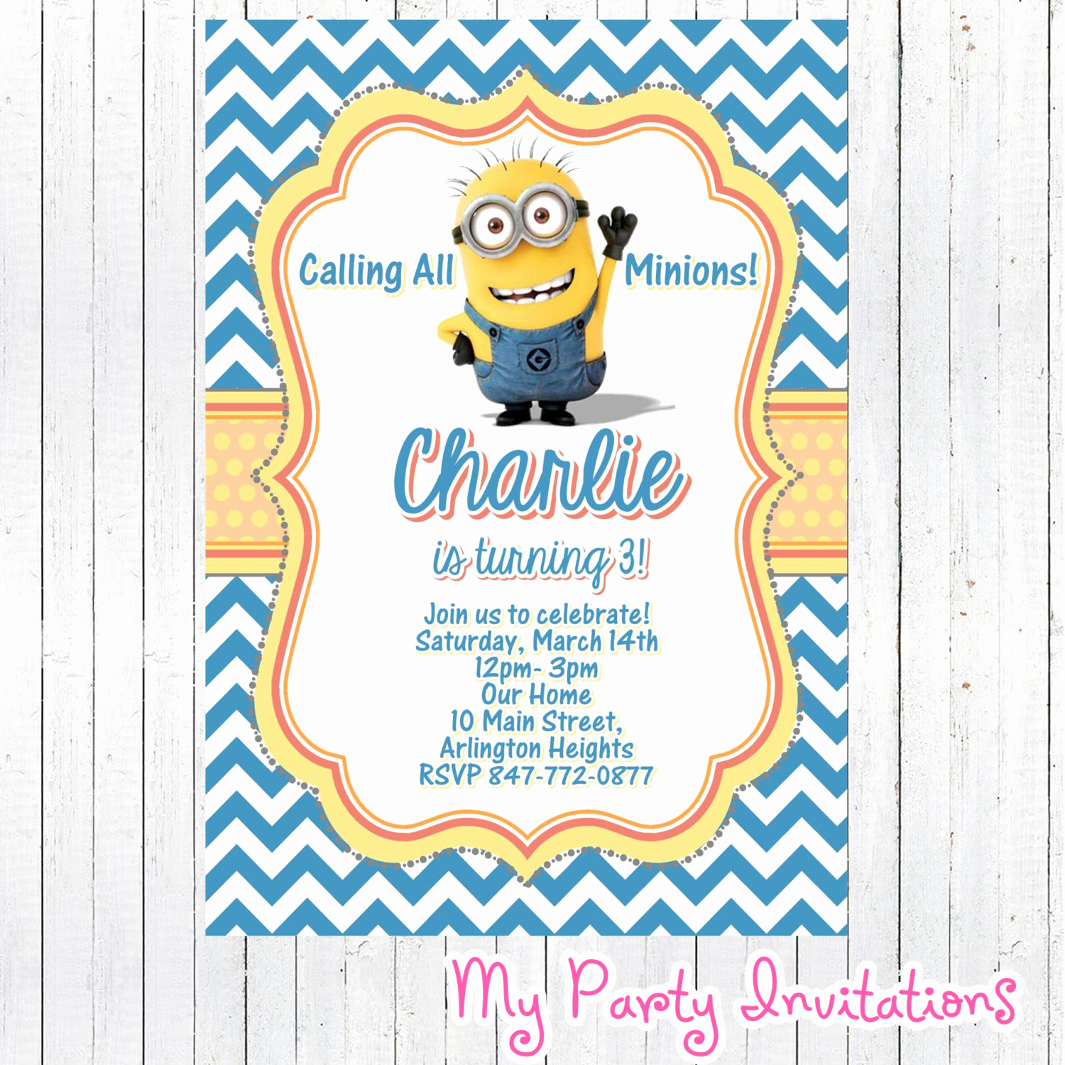 printable minions despicable me birthday