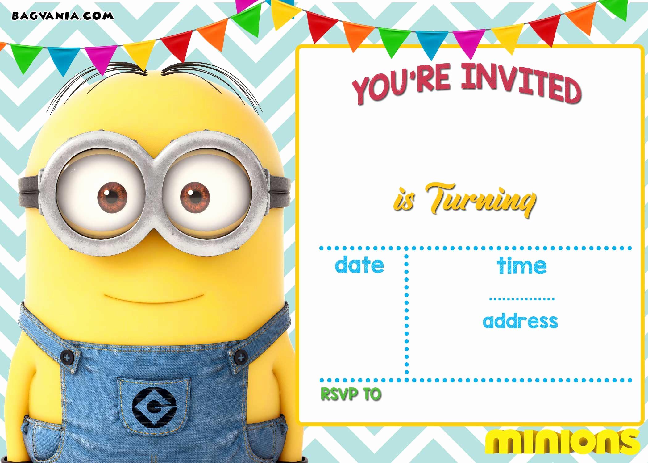 Minion Birthday Invitation Wording Luxury Download now Free Printable Minion Birthday Invitation