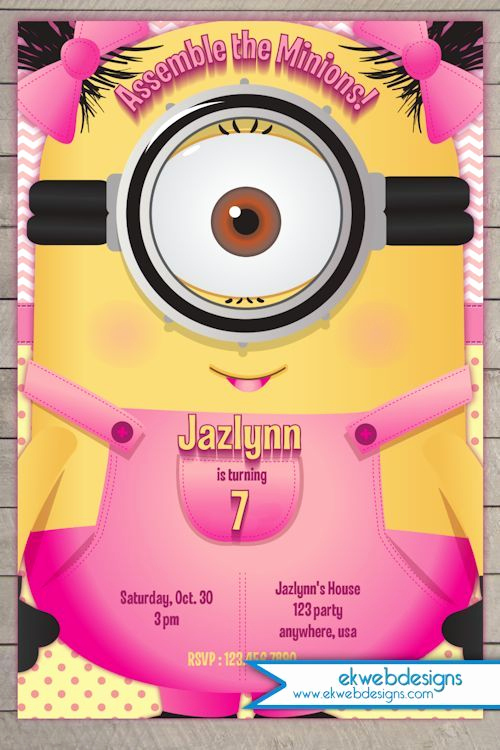 Minion Birthday Party Invitation Awesome 25 Unique Minion Birthday Invitations Ideas On Pinterest