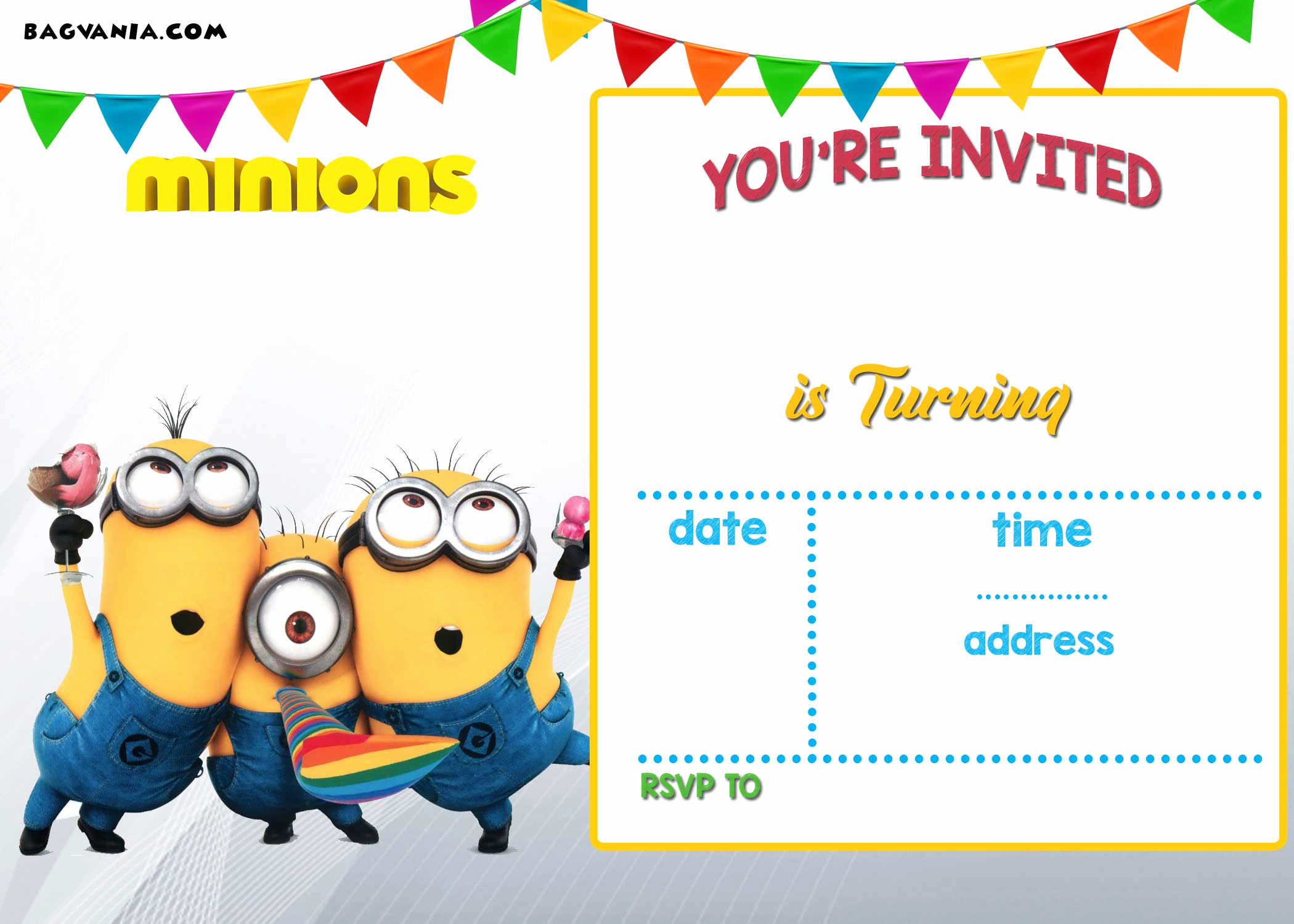 Minion Birthday Party Invitation Awesome Free Printable Minion Birthday Party Invitations Ideas