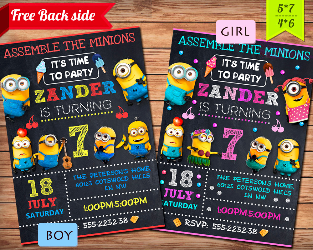 Minion Birthday Party Invitation Awesome Minion Invitation Minion Party Minion Birthday Invitation