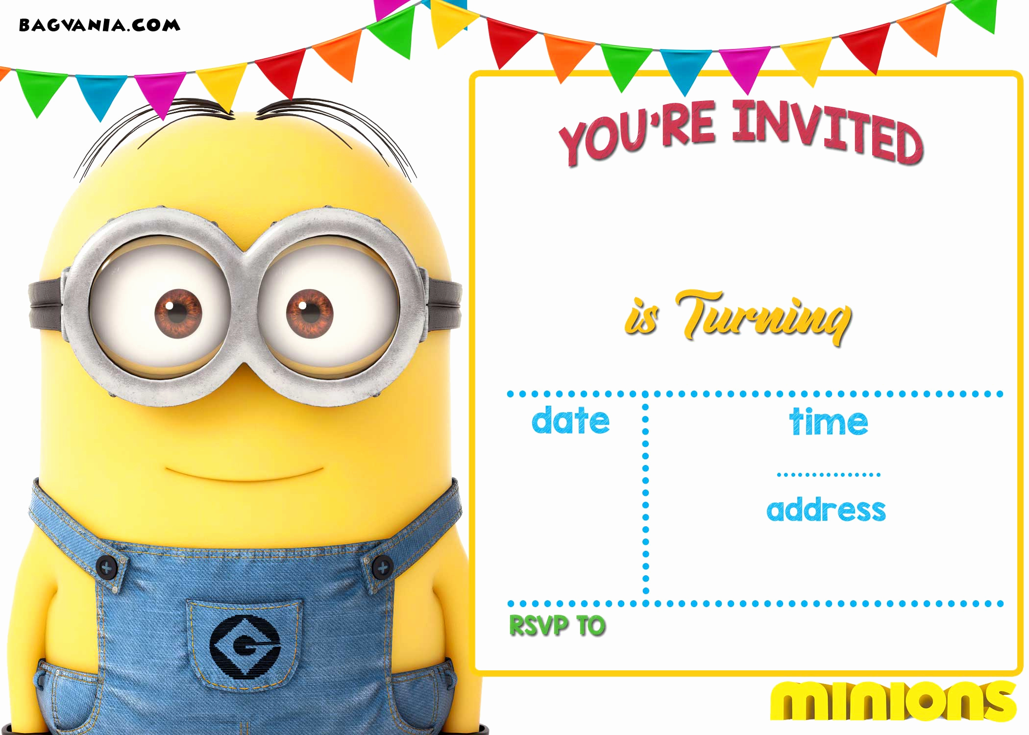 Minion Birthday Party Invitation Beautiful Free Printable Minion Birthday Party Invitations Ideas