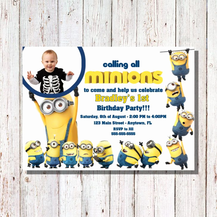 Minion Birthday Party Invitation Elegant Best 25 Minion Birthday Invitations Ideas On Pinterest