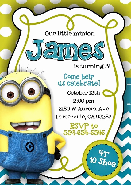 Minion Birthday Party Invitation Elegant Minion Despicable Me Birthday Party Ideas Pink Lover