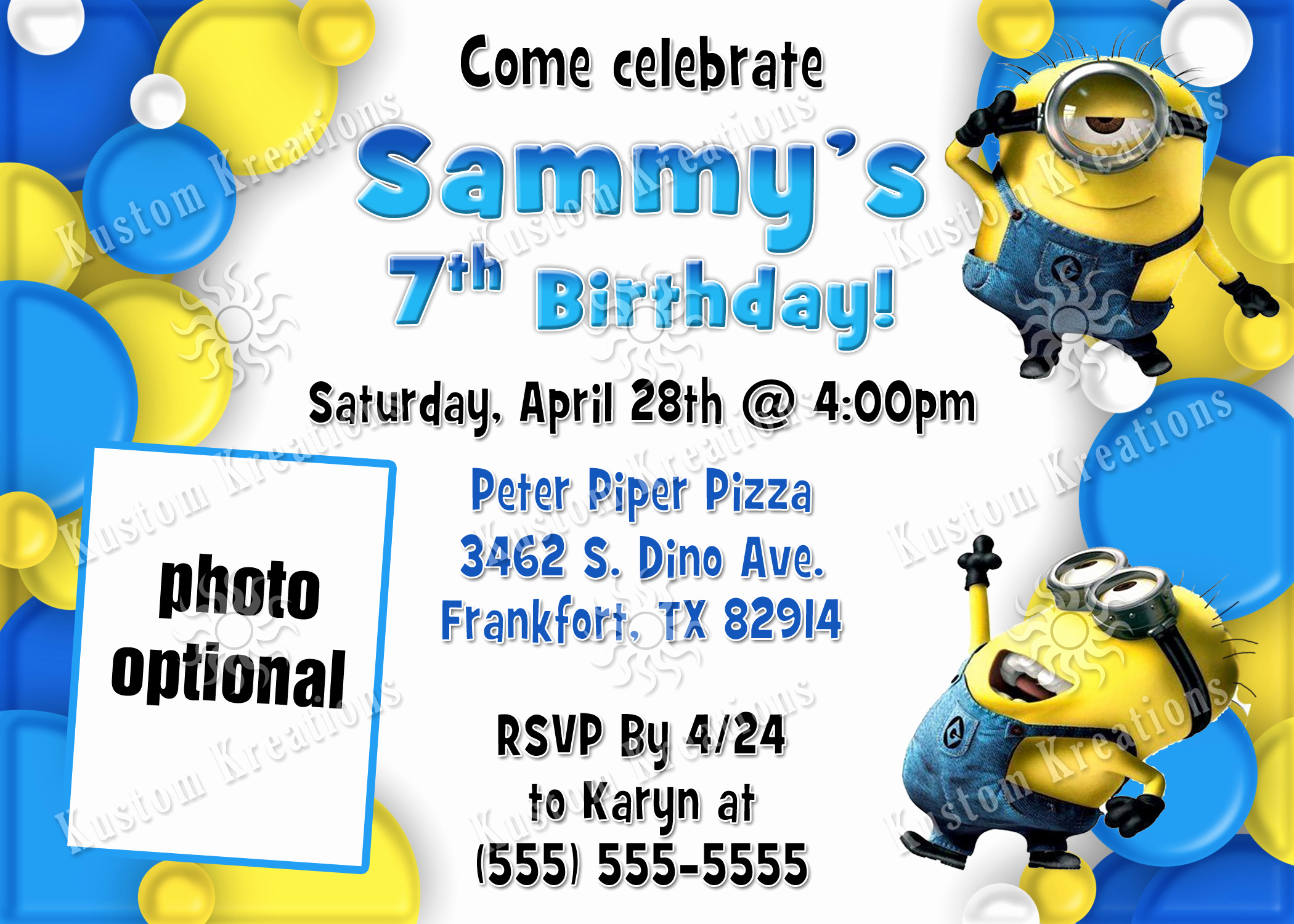 Minion Birthday Party Invitation Inspirational Minions Birthday Invitations
