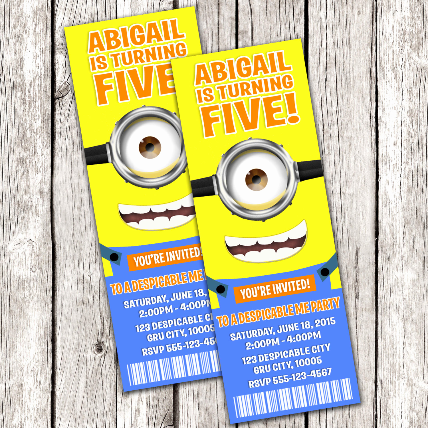 Minion Birthday Party Invitation Lovely Minion Ticket Invitation Despicable Me Birthday Party Diy