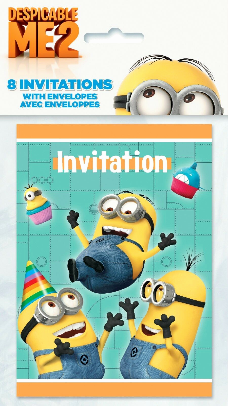 Minion Birthday Party Invitation New Despicable Me 2 Minions Party Birthday Invitations with