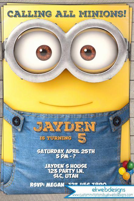 Minion Birthday Party Invitation New Minion Birthday Invitation 2015 Minion Movie Invitations