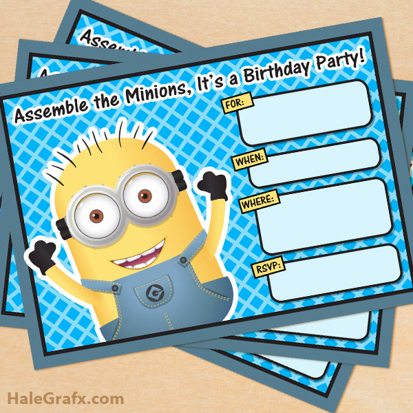 Minion Birthday Party Invitation Unique Free Printable Despicable Me Minion Birthday Invitation