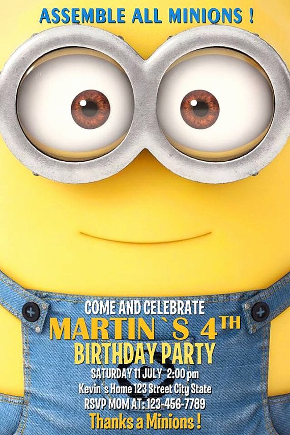 Minions Birthday Invitation Card Best Of 17 Best Minions Cute Images On Pinterest