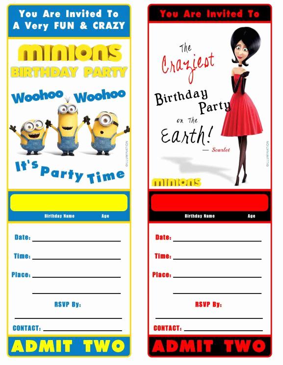 Minions Birthday Invitation Card Best Of Free Minion Movie Printable Birthday Invitation Minions