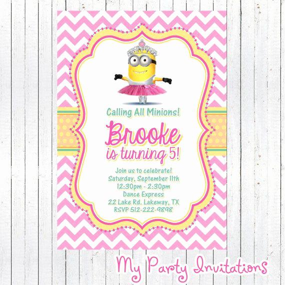 Minions Birthday Invitation Card Elegant 1000 Ideas About Minion Birthday Invitations On Pinterest
