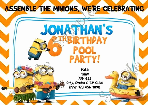 Minions Birthday Invitation Card Elegant 19 Best Images About Minions & Despicable Me Birthday