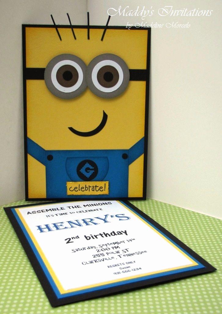 Minions Birthday Invitation Card Elegant 87 Best Minions Images On Pinterest