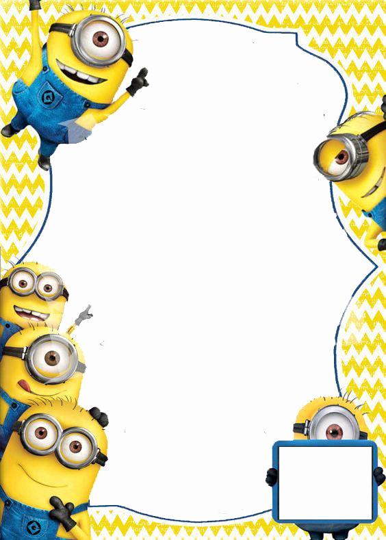 Minions Birthday Invitation Card Elegant Minion Invitations Template Design