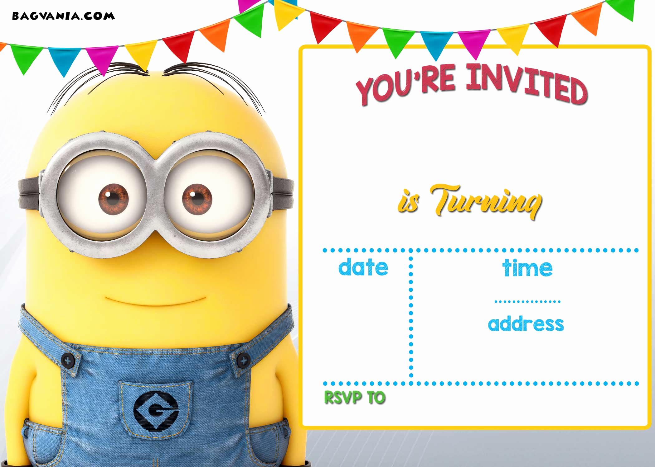 Minions Birthday Invitation Card Luxury Free Printable Minion Birthday Party Invitations Ideas